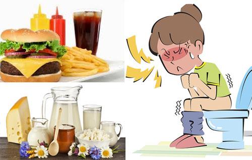 Các loại thực phẩm dễ bị táo bón
